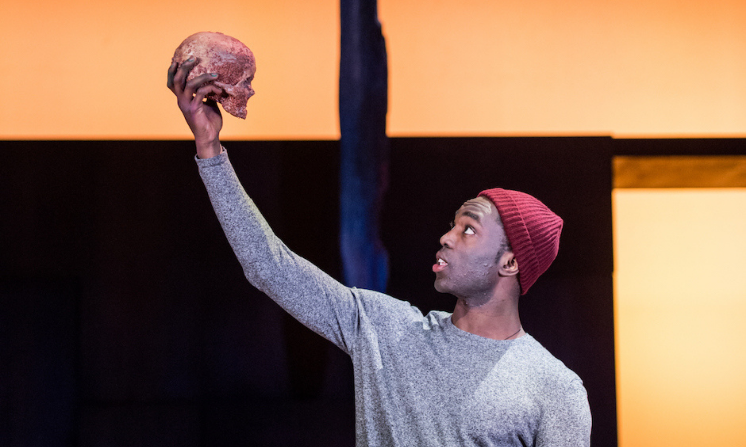 Paapa Essiedu (Hamlet) in Hamlet | Royal Shakespeare Company © Manuel Harlan