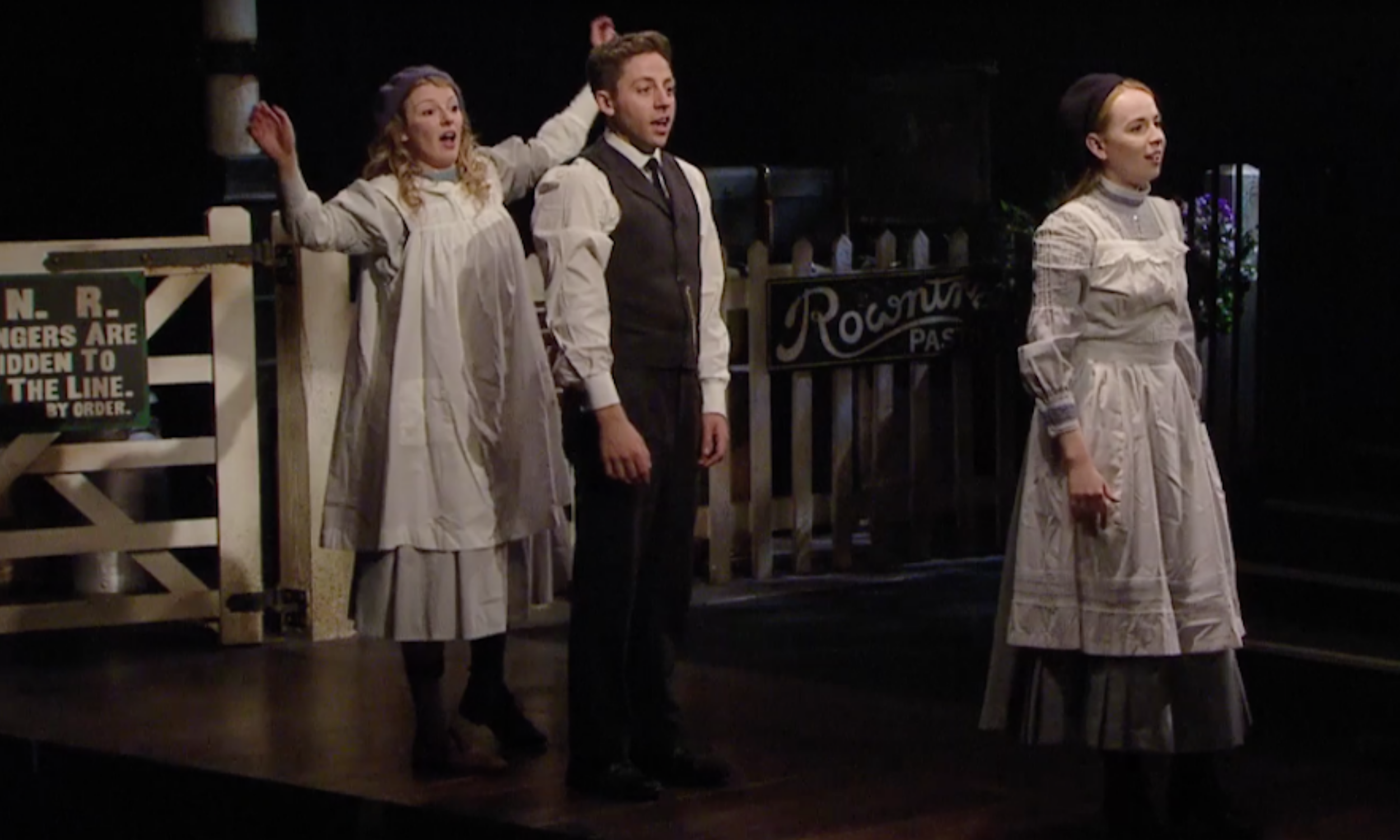 The cast of The Railway Children