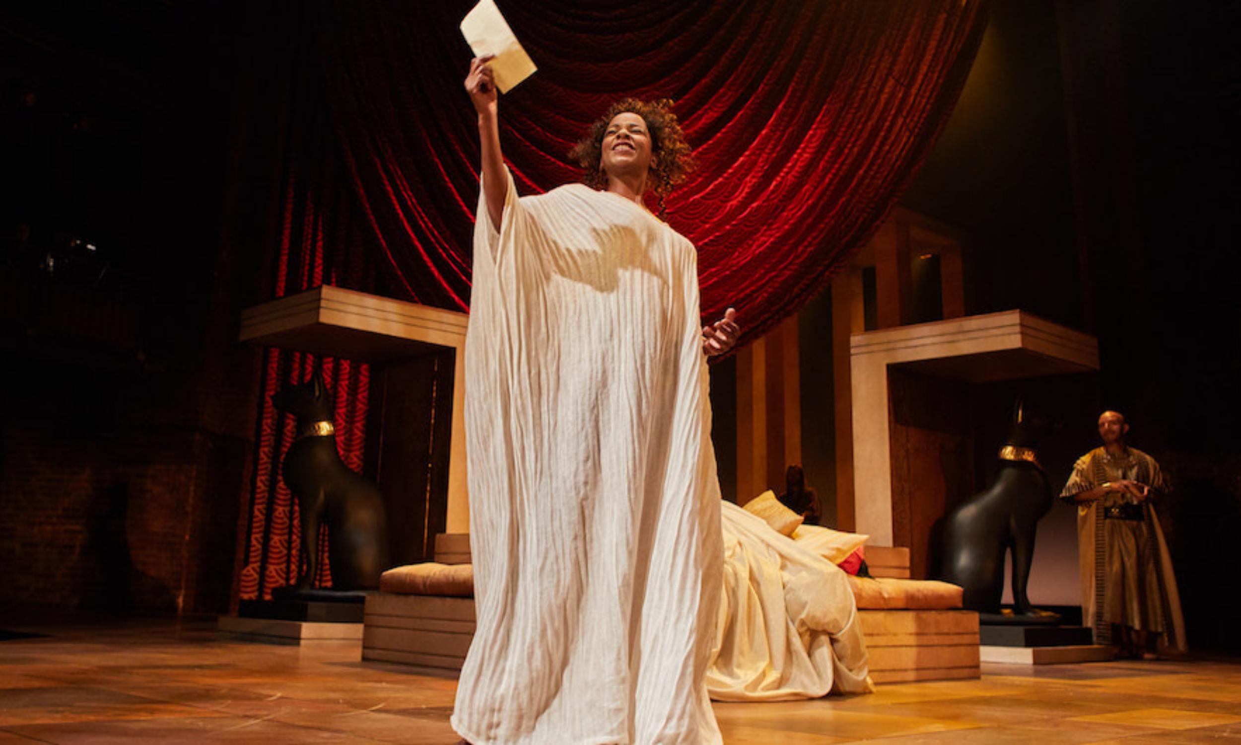 Josette Simon (Cleopatra) in the RSC's Antony and Cleopatra © Helen Maybanks.