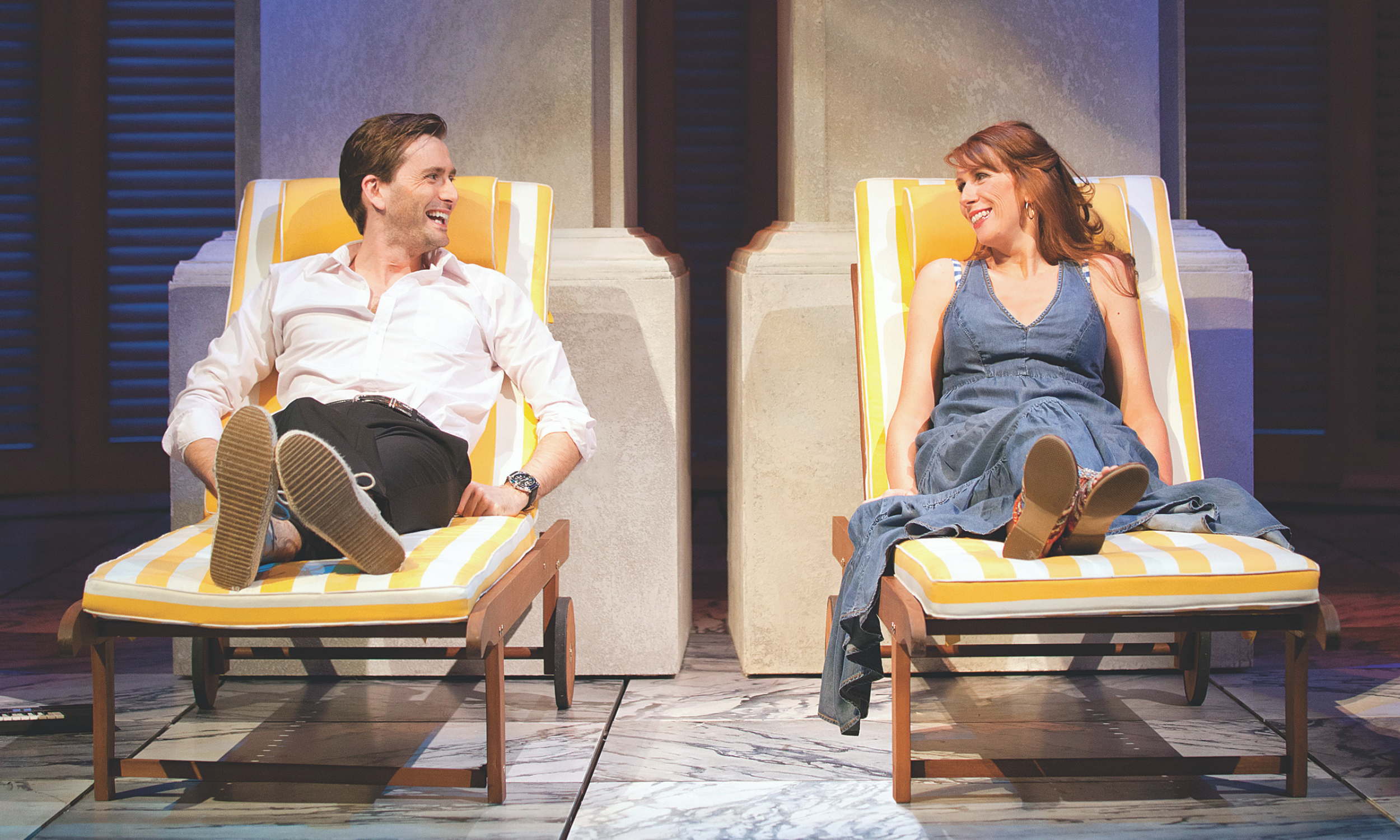 David Tennant (Benedick) and Catherine Tate (Beatrice) in Much Ado About Nothing | Sonia Friedman Productions © Johan Persson