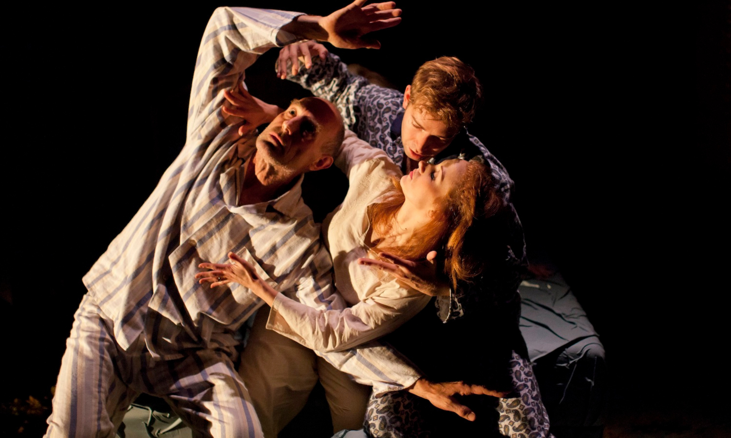 Sam Cox (Billy) Edward Bennett (William) and Leanne Rowe (Margaret) in Frantic Assembly's Lovesong © Johan Persson