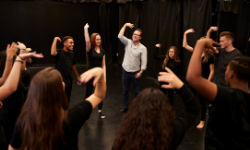 Image of Theatre class participating in practical activities