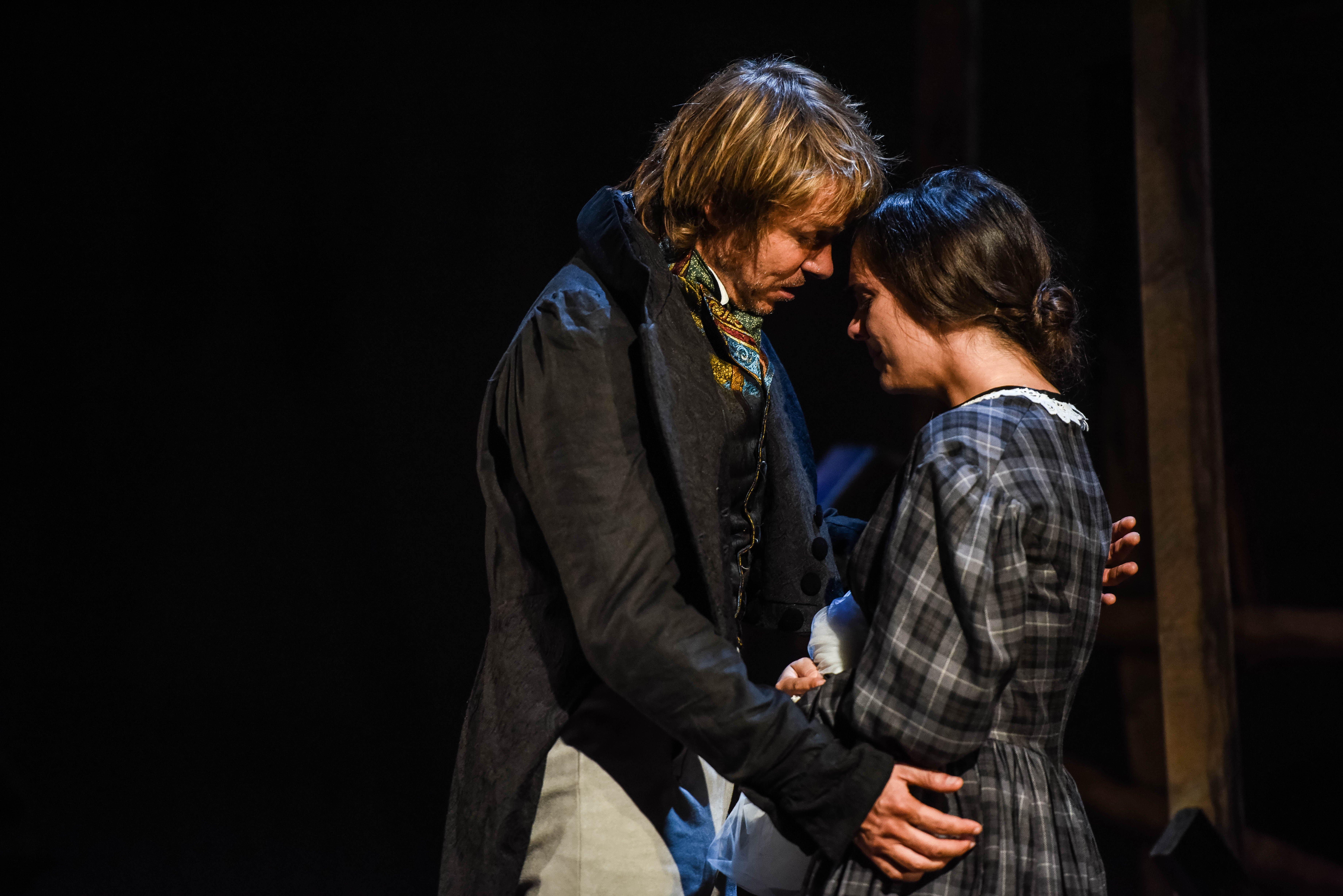 Ben Warwick (Mr Rochester) and Kelsey Short (Jane Eyre) in Jane Eyre | Blackeyed Theatre © Alex Harvey-Brown