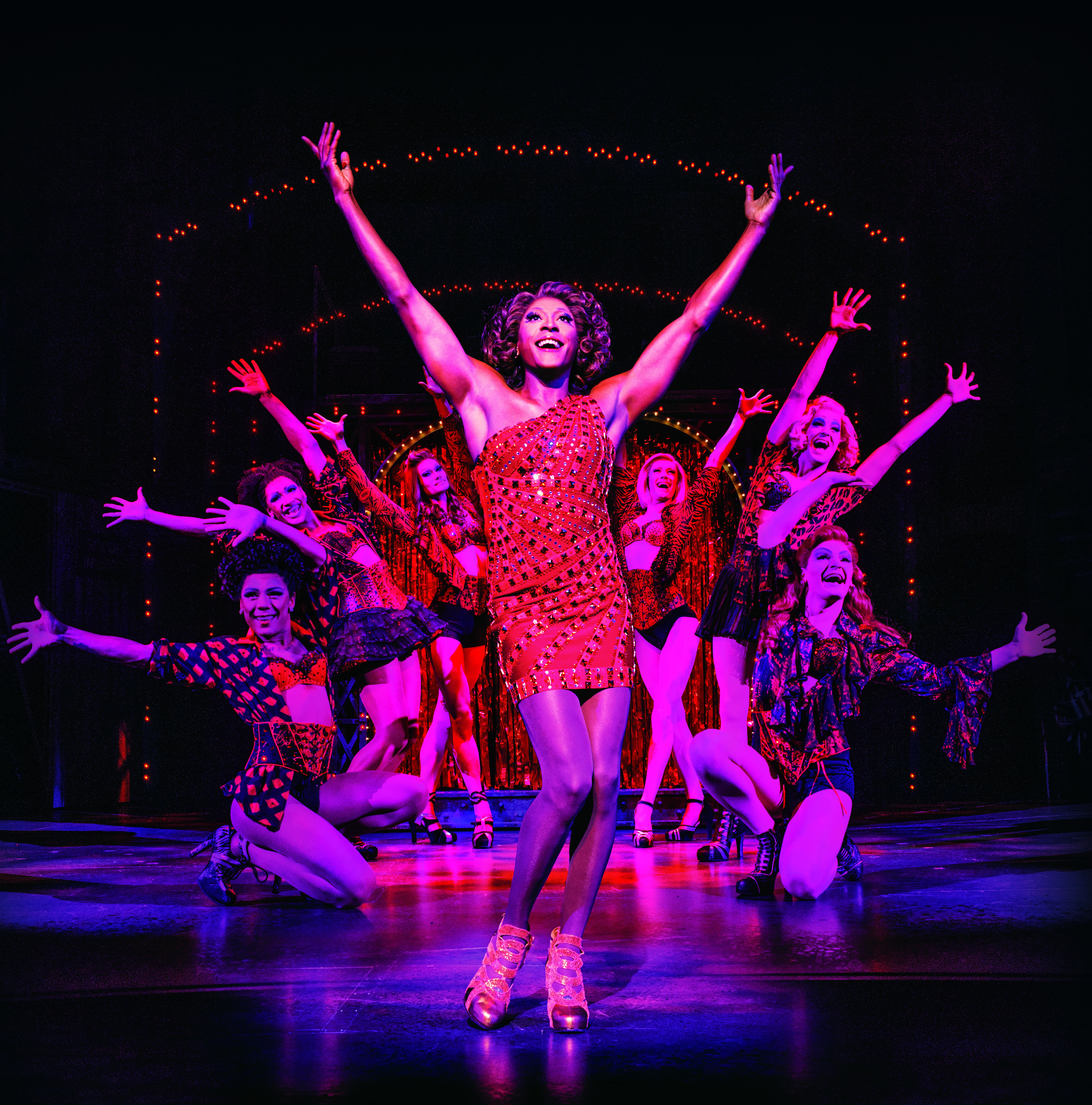 Matt Henry (Lola) and the cast of Kinky Boots | BroadwayHD © Matt Crockett