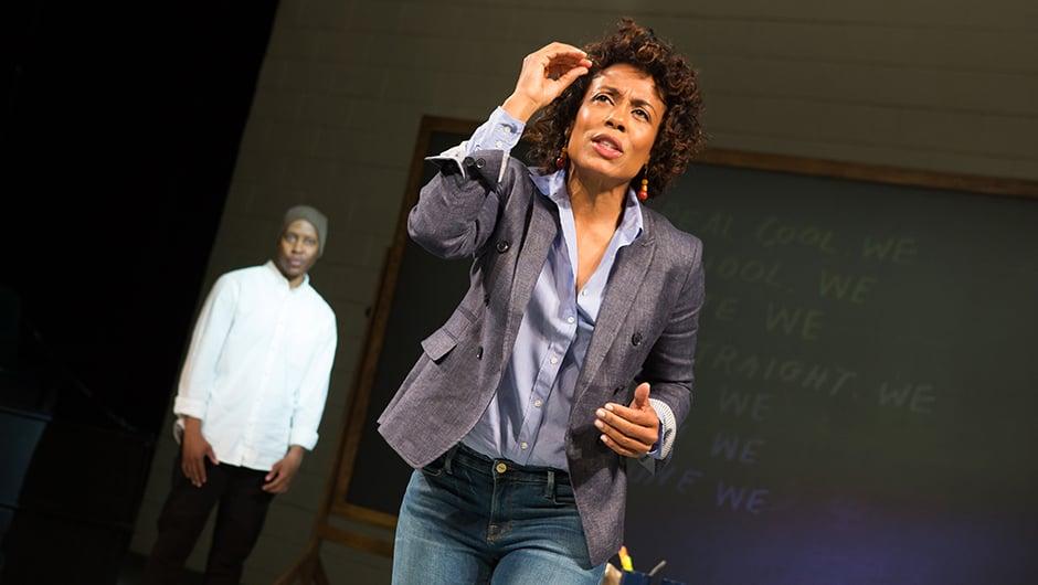 Namir Smallwood (Omari) and Karen Pittman (Nya) in Pipeline | BroadwayHD © Jeremy Daniel