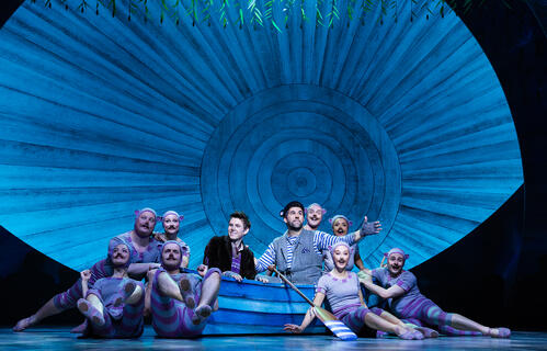 Ensemble, Craig Mather and Simon Lipkin in The Wind in the Willows | BroadwayHD © Marc Brenner